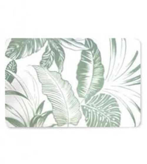 Hawaiian Design Placemat in Translucent Tropical Garden design