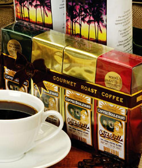 Mulvadi 10% Kona Coffee Blend - Mini Gift Set of Four