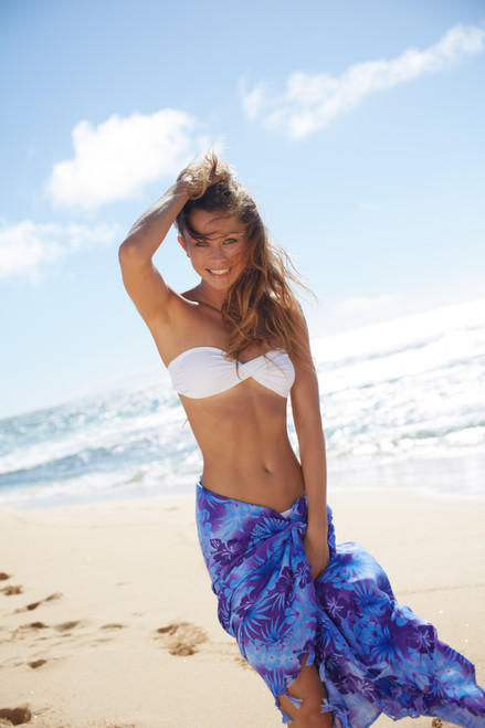 Female model wearing Aloha Sarongs - Tropical