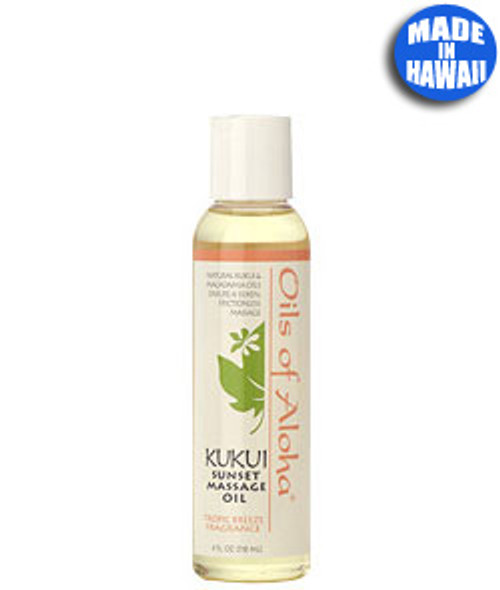 Sunset Massage Organic Kukui Nut Oil