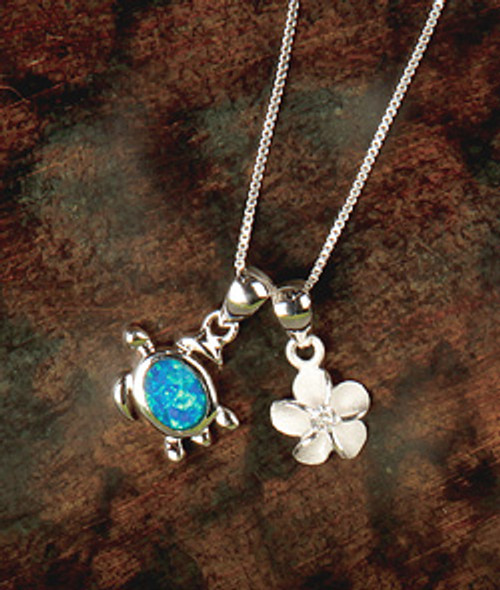 Island Opals® Double Charm Necklace