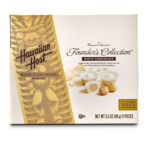 Hawaiian Host Founder's Collection White Chocolate Covered Macadamia Nuts - 3.5 oz box