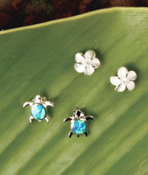 Island Opals® Honu & Plumeria Earring Set