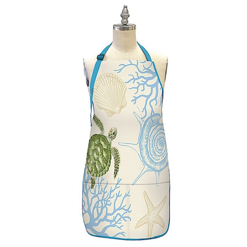 Hawaiian Design Apron in Honu Voyage design