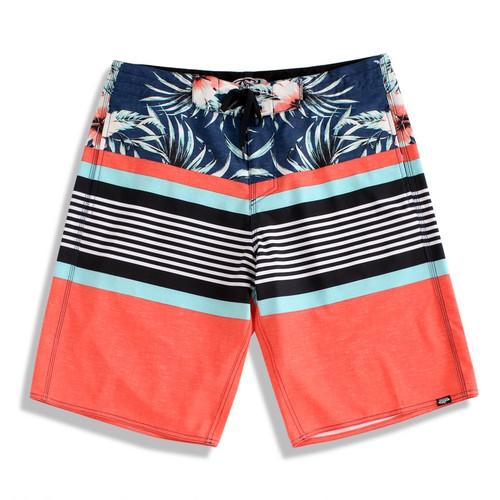 Men's Microfiber Board Shorts - Tri-Band Orange