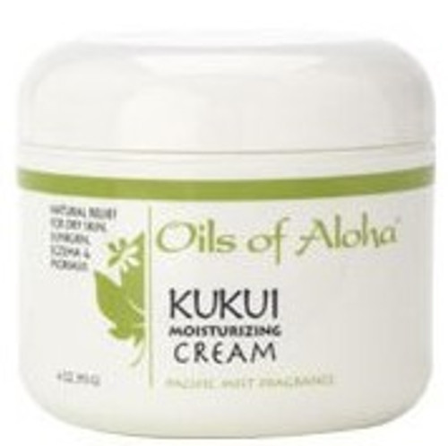 Organic Kukui Nut Moisturizing Cream 4oz in Pacific Mist Scent