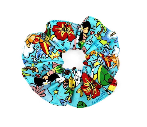 Island Style Scrunchie - Island Fun in Turquoise design
