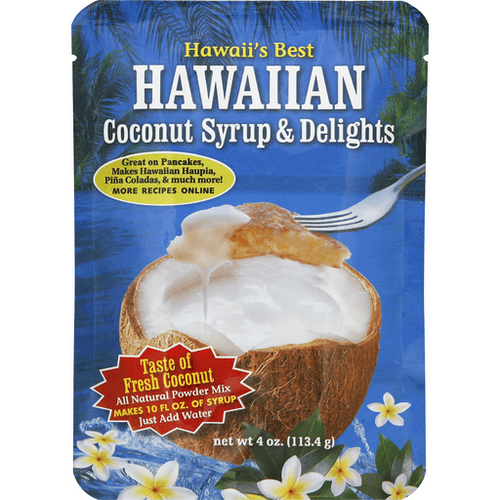Hawaiian Coconut Syrup Powder Mix