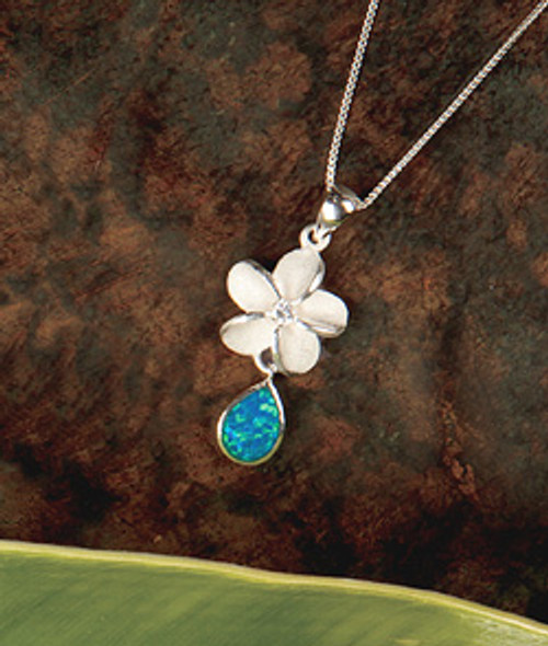Island Opals® Plumeria Drop Necklace
