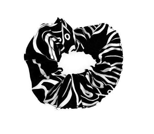 Island Style Scrunchie - Monstera in Black design