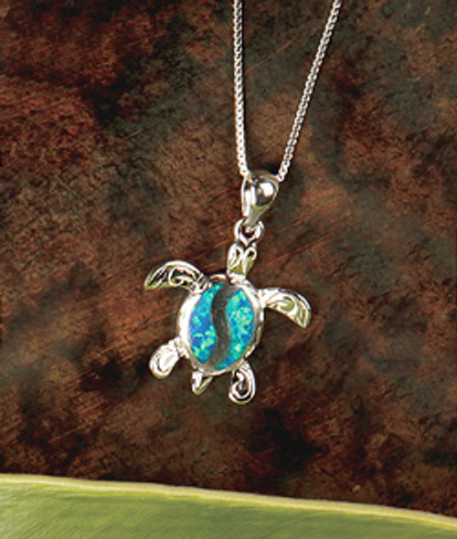 Island Opals® Honu Opal Necklace