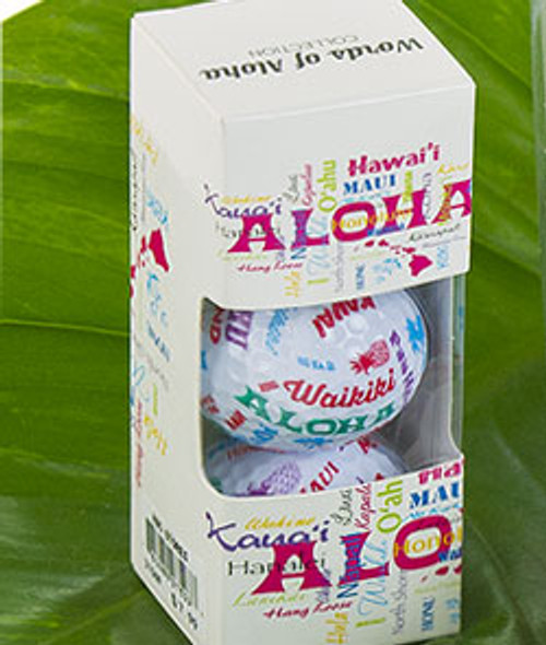 Words of Aloha Golf Ball Three Pack