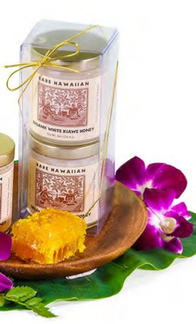 Rare Hawaiian Organic White Kiawe Honey Two Pack Gift Set