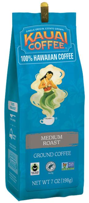 100% Kauai Coffee 7oz in medium roast in ground