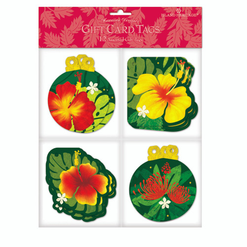 Christmas Gift Tags - Pack of 12 - Floral Monstera