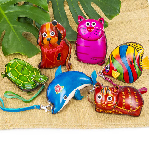 Small Animal Wristlet available in the following designs: Honu, Puppy, Pink Kitty, Humu Fish, Dolphin