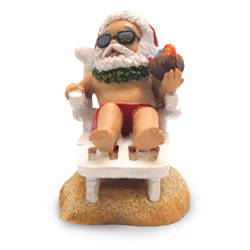 Christmas Ornament - Beach Chair Santa
