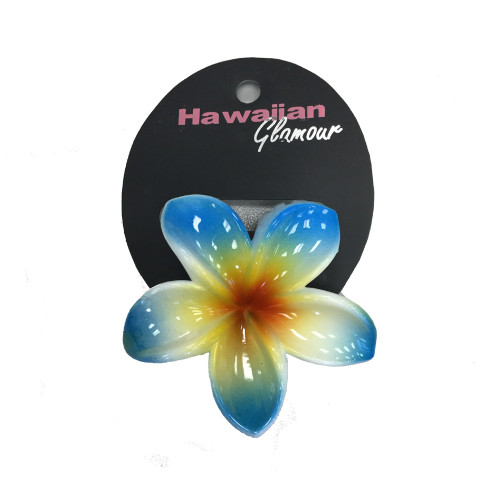 Blue Solid Large Hair Clip by Hawaiian Glamour