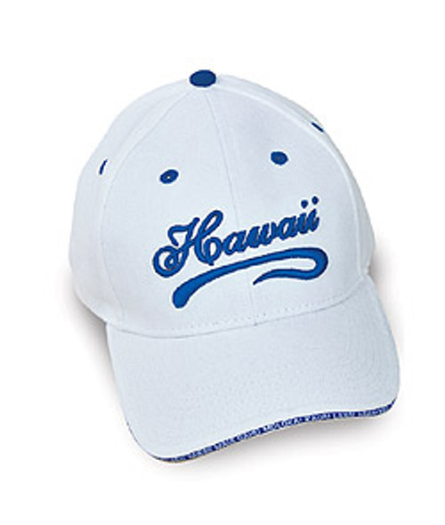 Cap - Hawaii Script in white color