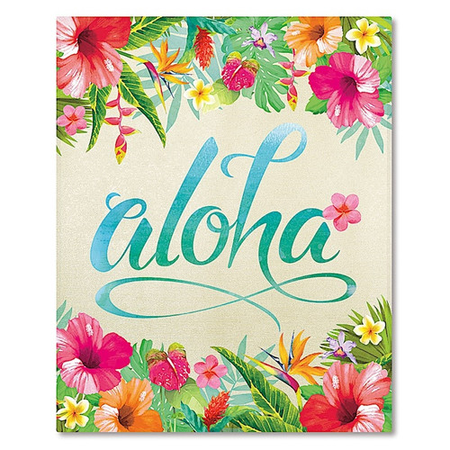 Hardcover Photo Album - 64 Pocket in Aloha Floral design