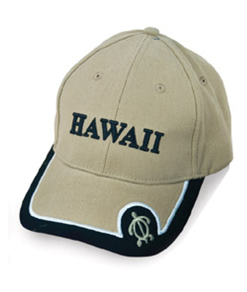 Honu Tip Hawaii Cap design  in khaki color