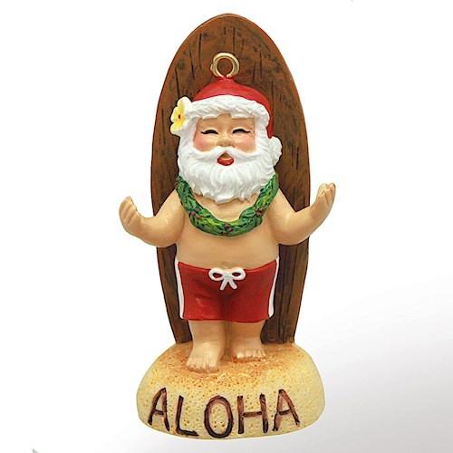 Christmas Ornament - Santa's Longboard