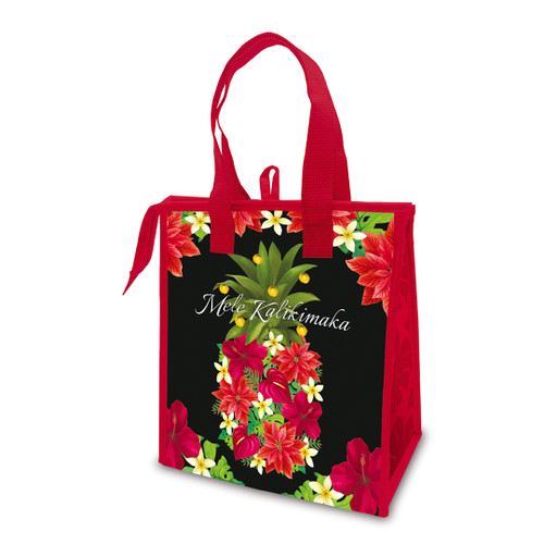 Holiday Insulated Lunch Bags in Pineapple Floral design