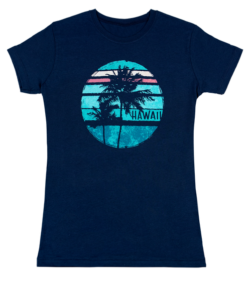 Island Girl® Surf Tee - Sunset in Navy color