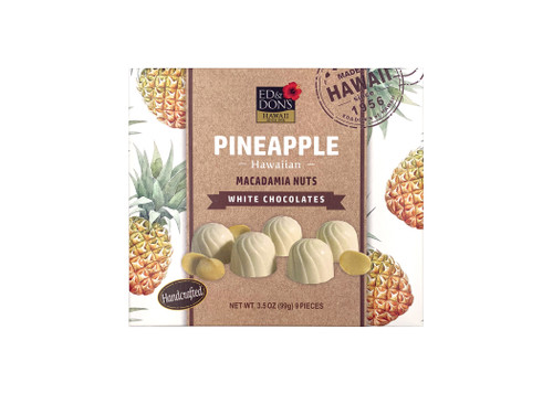 Ed & Don's Pineapple White Chocolate Covered Macadamia Nuts