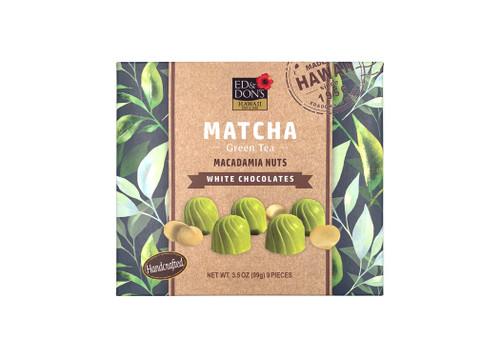 Ed & Don's Match Green Tea White Chocolate Covered Macadamia Nuts