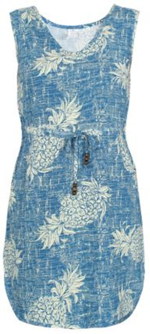 Women's Aloha Dress – Vintage Blue Pineapple