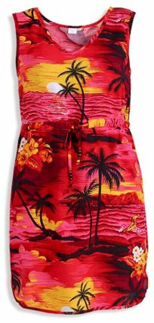Women's Aloha Dress – Red Scenic