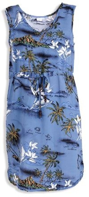 Women's Aloha Dress – Blue Surf