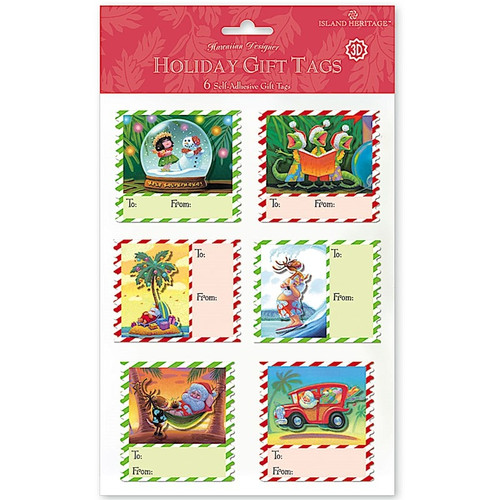 3-D ADHESIVE GIFT TAGS in MELE STAMPS