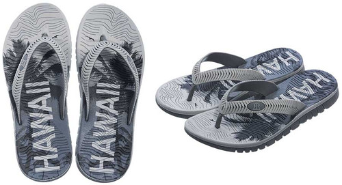Robin Ruth - Men's Palm Slippers in Gray color