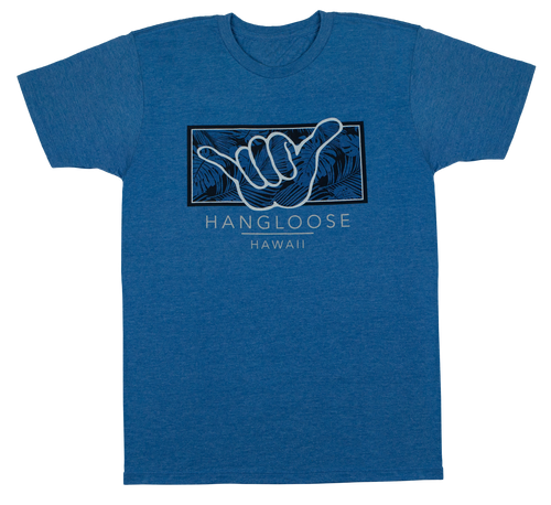 Crew Neck Tee - Hangloose Frame - Royal Heather