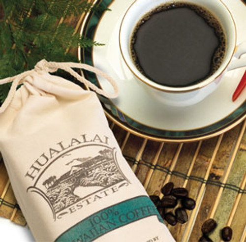 100% Hawaiian Ground Coffee in Burlap Bag