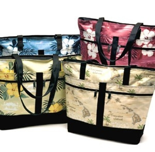 Four Island Accent Tote Bags in different designs