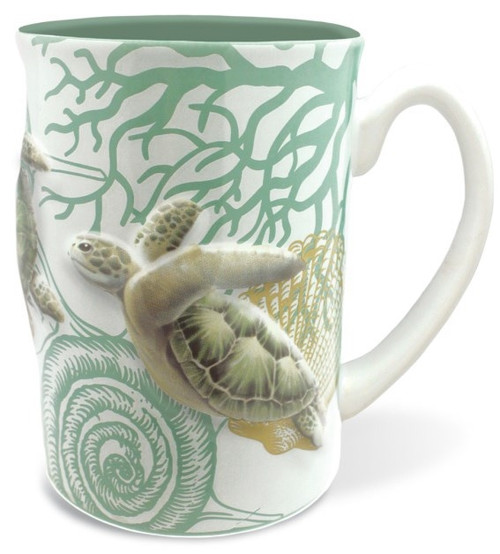 Embossed Mug 14oz in Honu Voyage design
