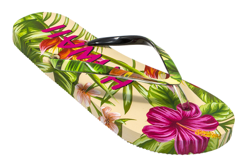 Robin Ruth - Ladies Hawaii Slippers in Floral Paradise design