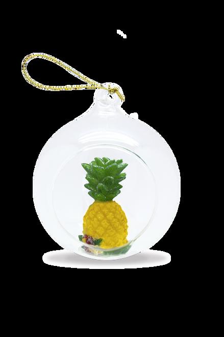 Glass Window Christmas Ornament - Pineapple