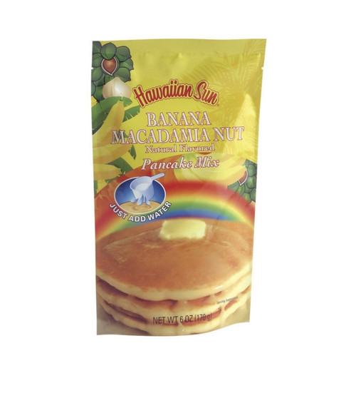 Hawaiian Sun Banana Macadamia Nut Pancake Mix Single