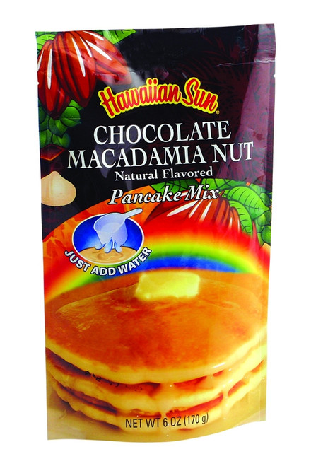 Hawaiian Sun Chocolate Macadamia Nut Pancake Mix Single