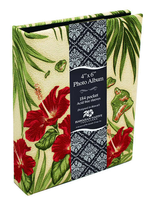 Fabric Photo Album in Hibiscus Island Chain design