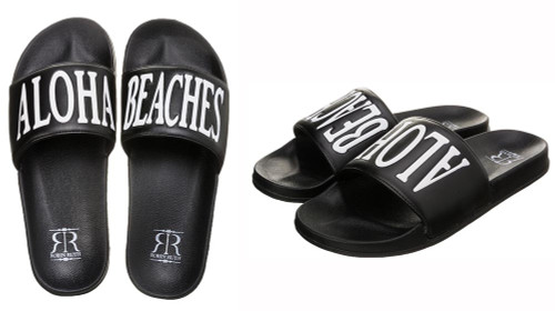Robin Ruth - Slide on Sandals in Aloha Beaches design. Available in  ladies sizes only.