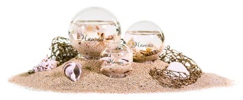 Hand-Blown Seashell Glass Ball