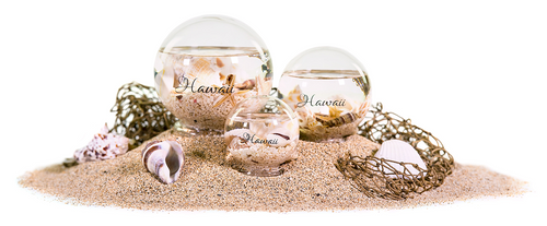 Hand-Blown Seashell Glass Ball