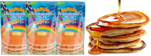 Hawaiian Sun Blueberry Acai Pancake Mix 3 Pack