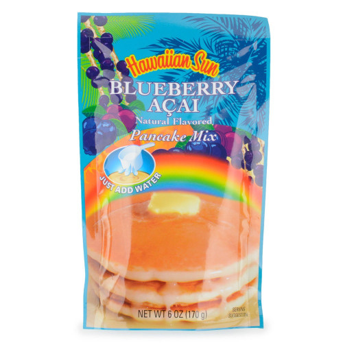 Hawaiian Sun Blueberry Acai Pancake Mix Single