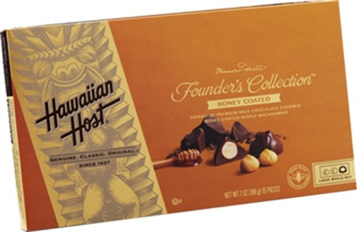 Hawaiian Host Founder's Collection Honey Coated Chocolate Covered Macadamia Nuts